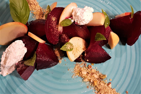 roasted beet salad by chef's satchel