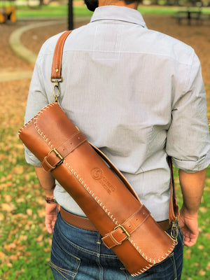 leather knife bag for knives by chef's satchel