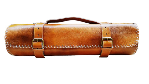 Gift for Chefs Leather Knife Roll
