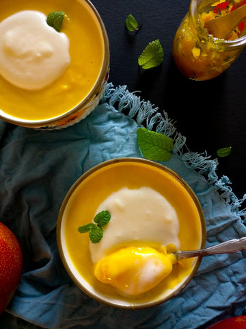 mango pudding by chef's satchel
