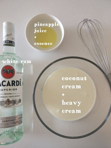 Bacardi rum for mango pudding by chef's satchel