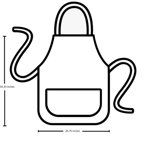 Apron size for chef's satchel
