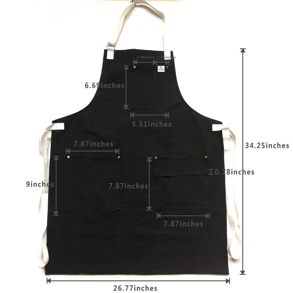 Chef's Satchel apron measurement