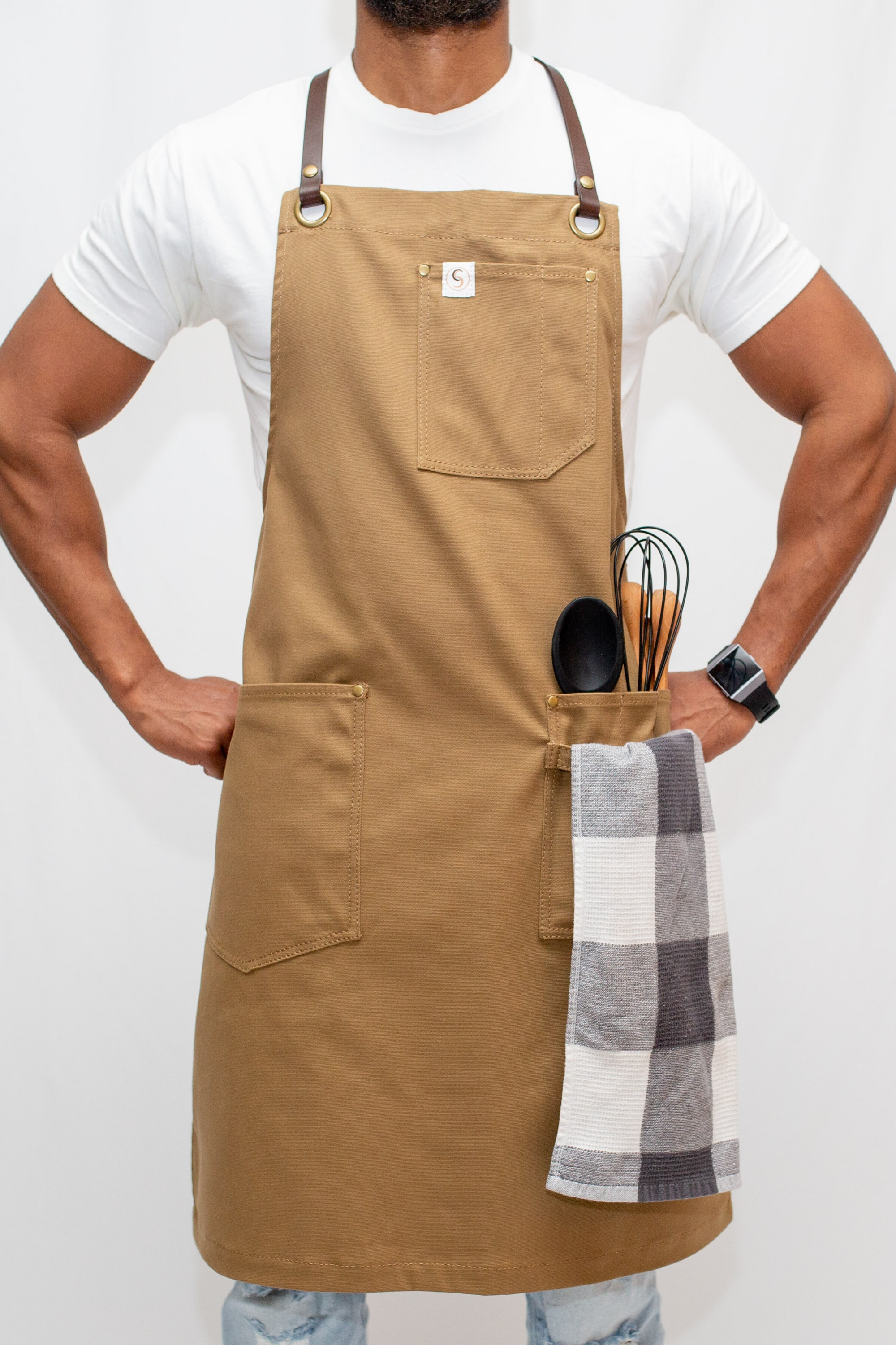 Custom Leather Strap Aprons