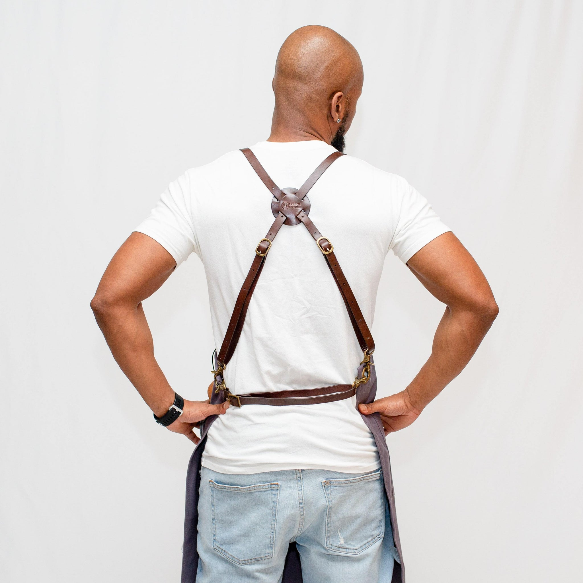 Leather Strap Waxed Canvas Aprons for wholesale pricing