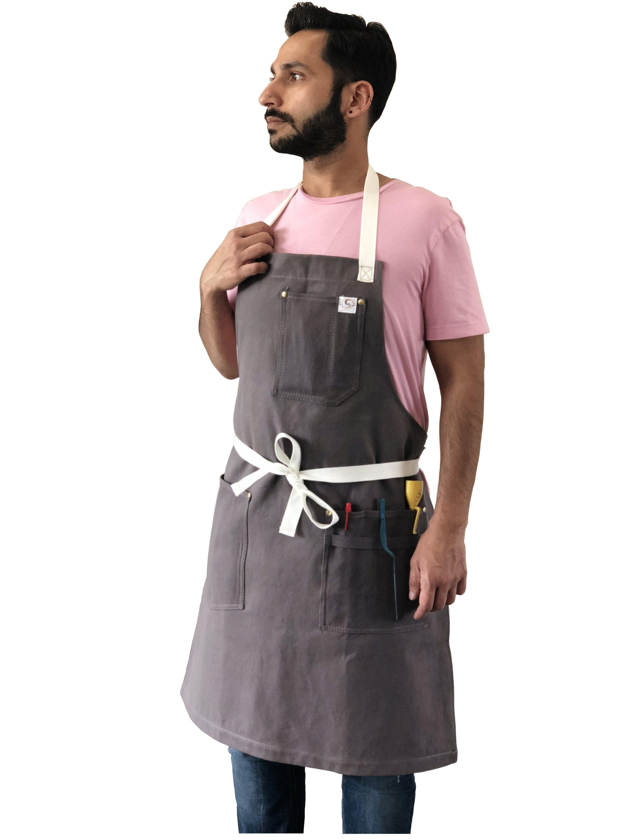 Cotton strap aprons