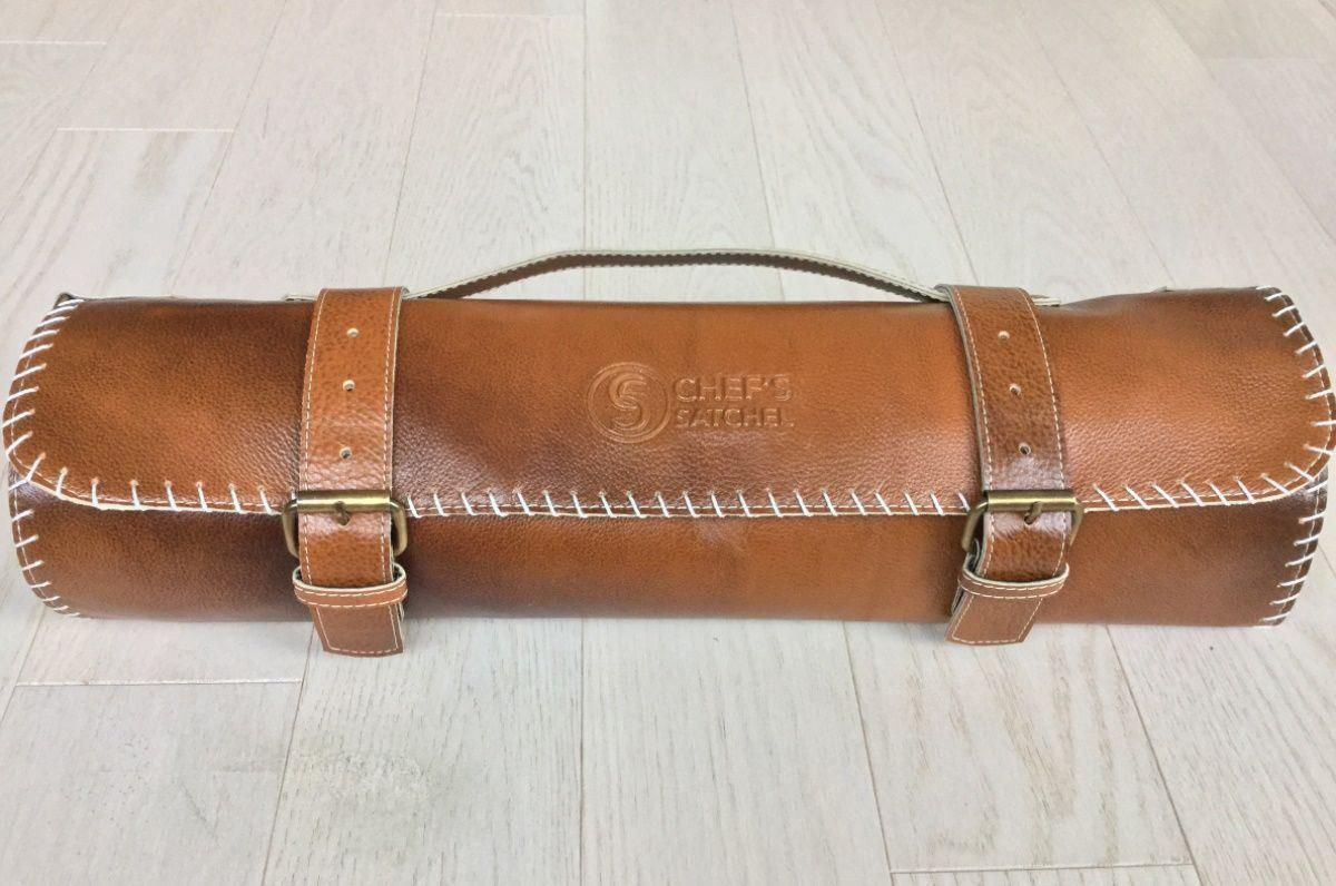 Stylish leather knife roll for Chef