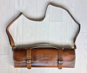 5173792bdb3 Handmade Leather Chef Knife Roll   Leather Knife Bag   Chef's Satchel