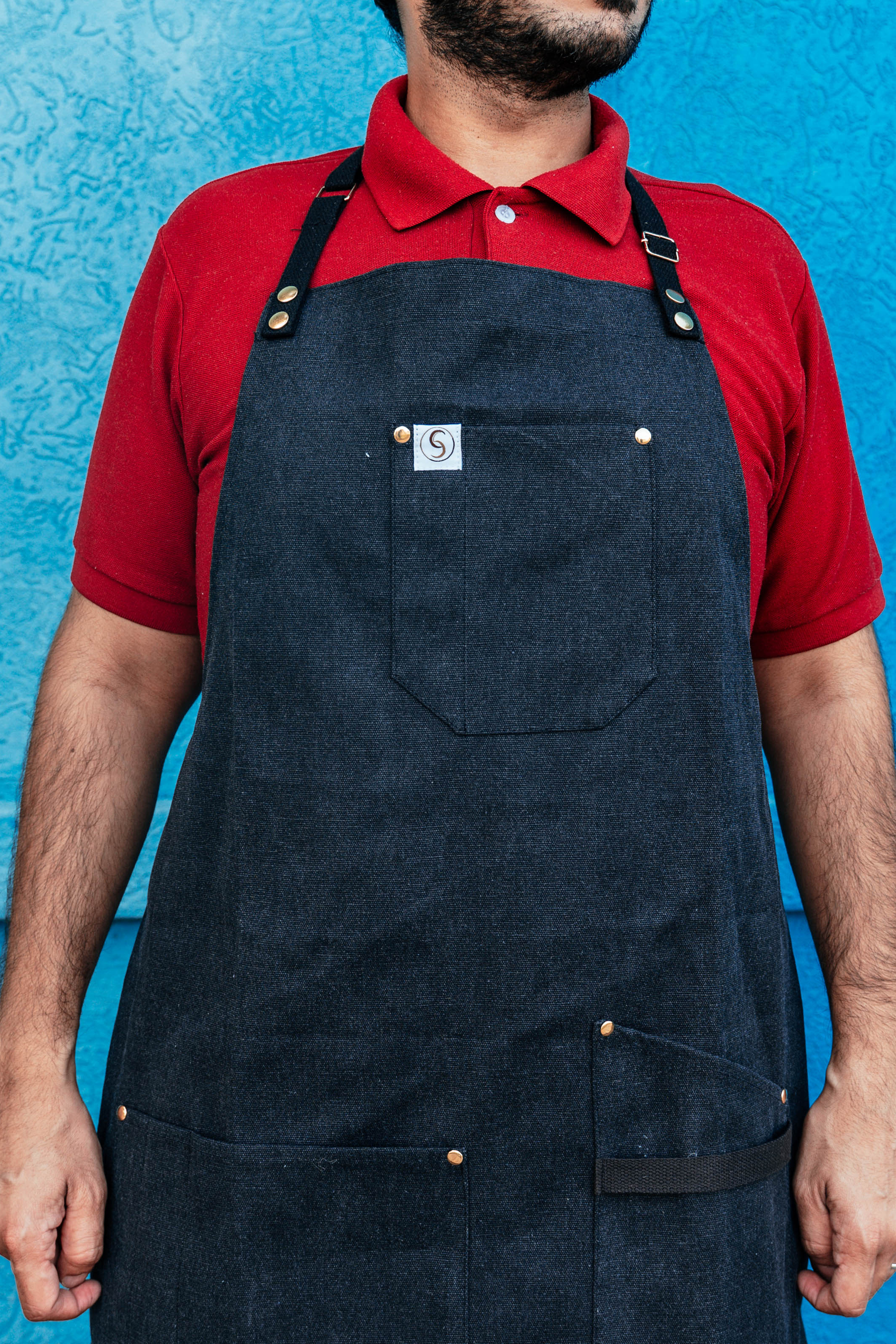 The Works Washed Canvas Bistro Aprons