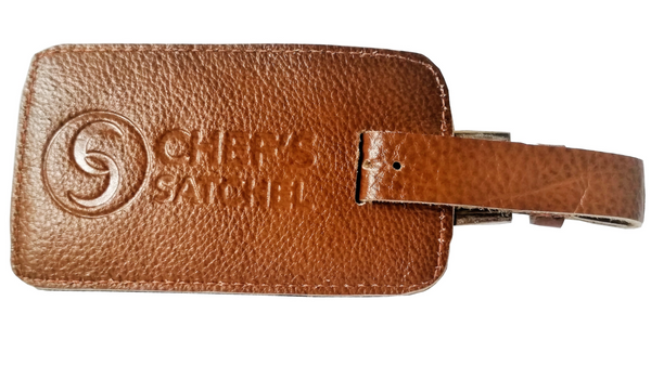 Tan Leather Tag