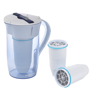 ZeroWater 10-Cup Ready Pour Water Purification Pitcher with extra two filters