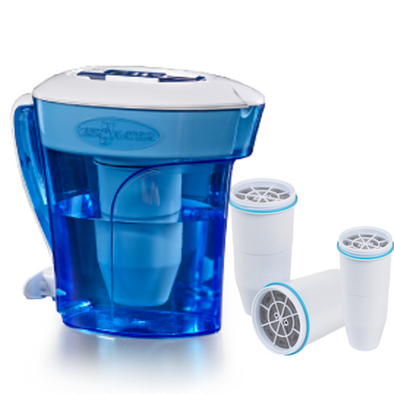 Zerowater 10 cup pitcher with extra three filters