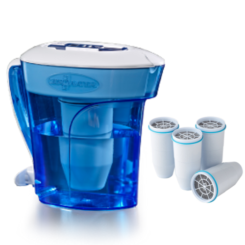 Zerowater 10-Cup Water Dispenser & Filtration System ZD-010 w/ Replacement Filter 4 Packget-ultimate-now.myshopify.com