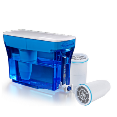 Zerowater 23 cup dispenser with extra two filter