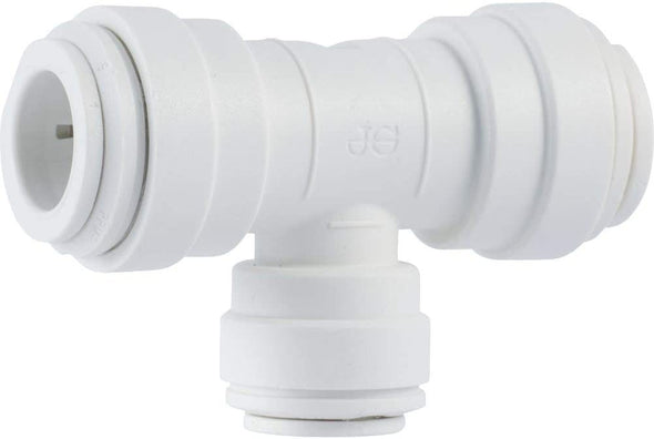 John Guest Union Tee Quick Connect Fitting; Polypropylene; White - 1/4