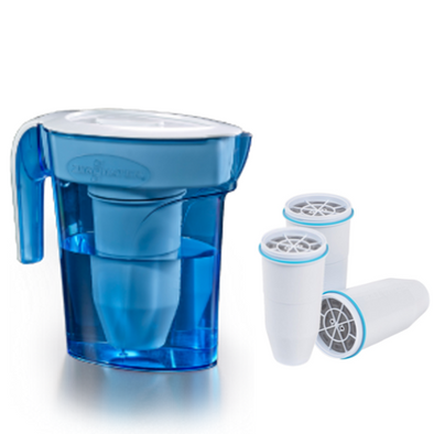 Zerowater 6 cup pitcher with extra three filtersget-ultimate-now.myshopify.com