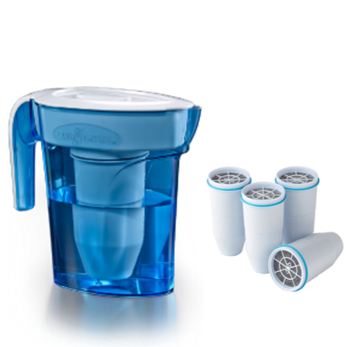 Zerowater 6 cup pitcher with extra four filters
