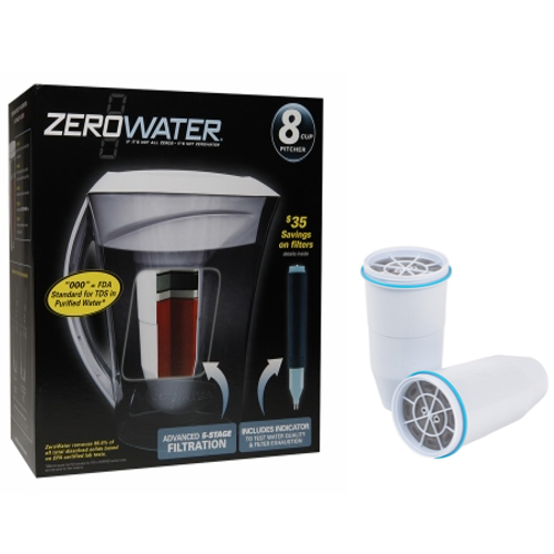 ZeroWater  Dispenser / pitcher (23 Cup, 10 Cup, 8 Cup, 6 Cup)get-ultimate-now.myshopify.com