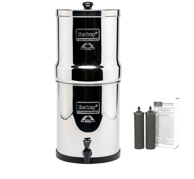 Travel berkey water filter system