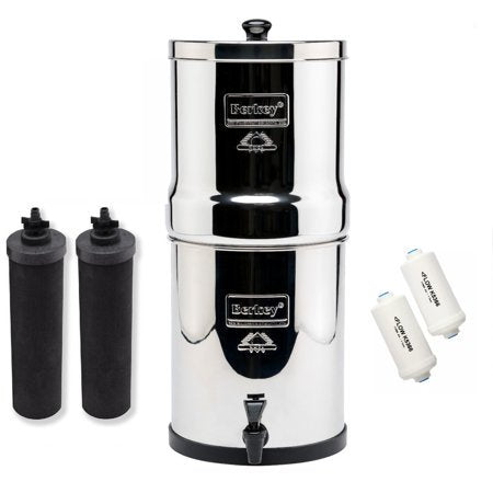 Big Berkey Water Filtration System Bundle with 2 Black Filters, 2 Fluoride Filters 2.25 Gallonget-ultimate-now.myshopify.com