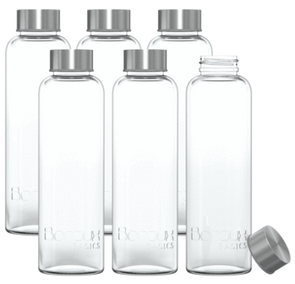 Boroux Basics 500 ml 6-pack Glass Water Bottles