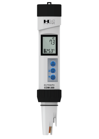 COM-300: Waterproof Professional Series pH/EC/TDS/Temp Meter