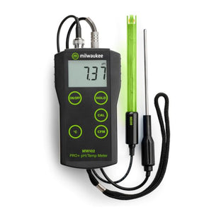 Milwaukee MW102 PRO+ 2-in-1 pH and Temperature Meter with ATC