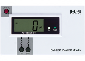 HM Digital DM-2EC Commercial In-Line Dual EC Monitor, 0-9990 S Range, +/- 2% Readout Accuracyget-ultimate-now.myshopify.com