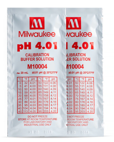 Milwaukee M10004B pH 4.01 Calibration Solution Sachets (25)