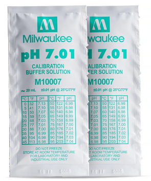Milwaukee M10007B pH 7.01 Calibration Solution Sachets (25)