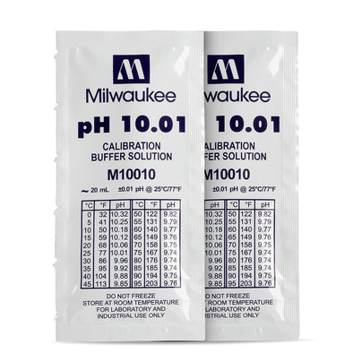 Milwaukee M10010B pH 10.01 Calibration Solution Sachets (25)