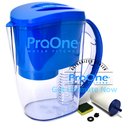 ProOne Water Filter Pitcher with ProOne-G 2.0 Mini Filter Element + Removable Fruit Infuser