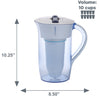 Zerowater 10 Cup Ready-Pour Round Water Pitcher