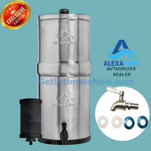 Alexapure Pro Water Filtration System with Stainless Steel Spigot