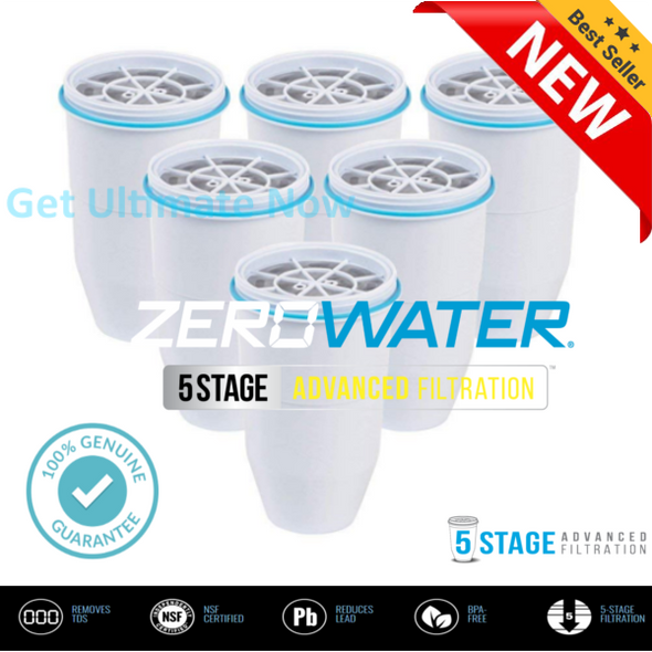 zerowater replacement filter for pitchers (6 Pack)