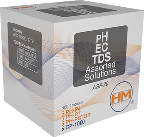 HM Digital 20 ml packets PH/EC/TDS assorted solutions-20 Packget-ultimate-now.myshopify.com