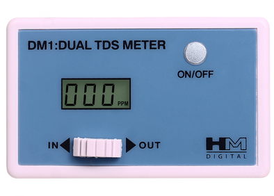 HM Digital DM-1 In-Line Dual TDS Monitor 0-9990 ppm Range 2 Readout Accuracyget-ultimate-now.myshopify.com