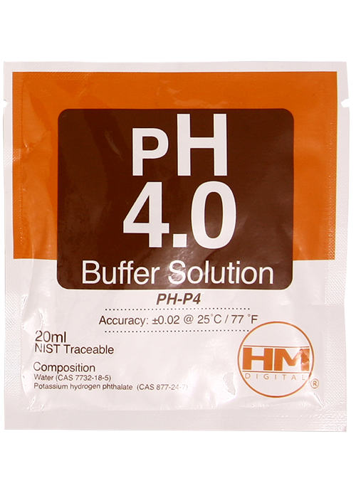 pH 4 Buffer solution 20 pack