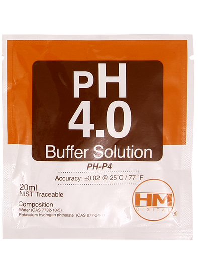 HM Digital PH 4.0 buffer solution PH-P4 20ml (1-pack)get-ultimate-now.myshopify.com