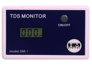HM Digital SM-1 In-Line Single TDS Monitor, 0-9990 ppm Range, +/- 2% Readoutget-ultimate-now.myshopify.com