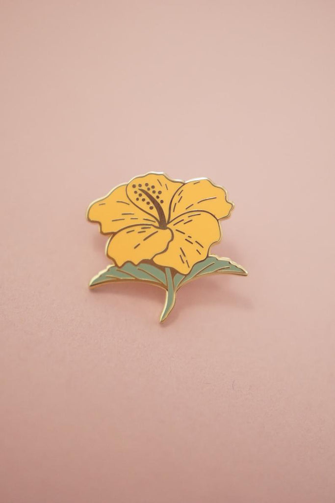 Hibiscus Flower Gumamela (Butterscotch Yellow) Enamel Pin
