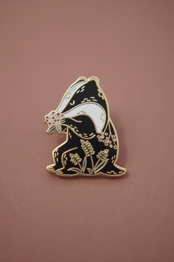 Badger Elderberry Enamel Pin