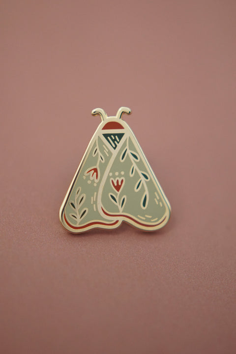 Moth (Laurel Green) Enamel Pin