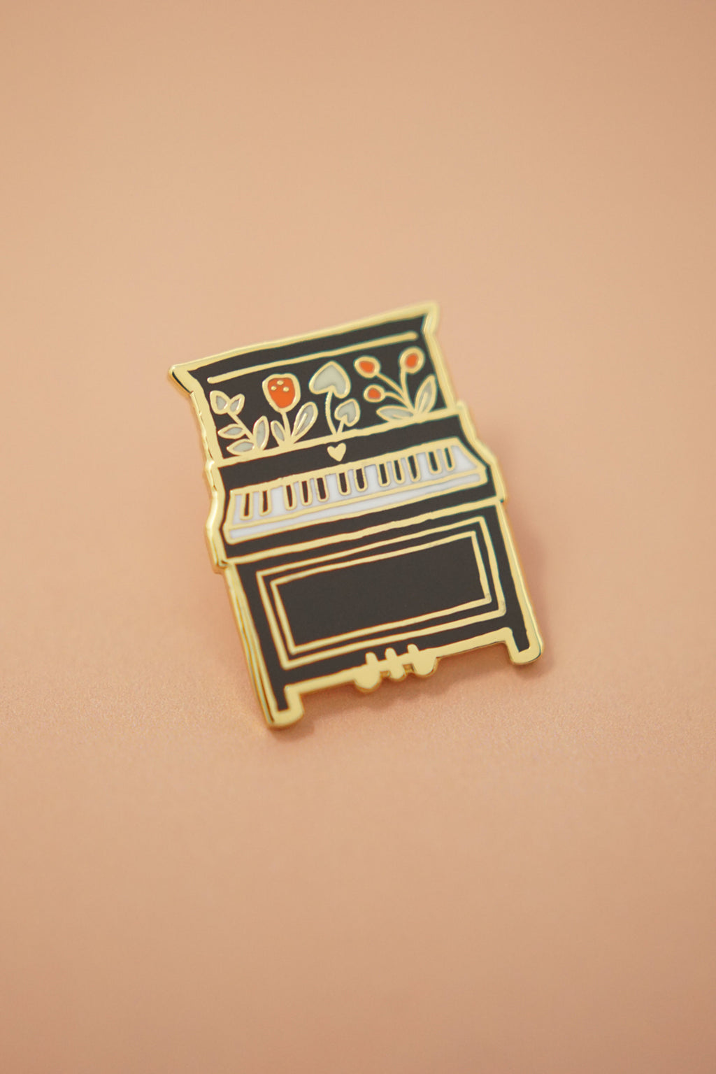 Piano Enamel Pin