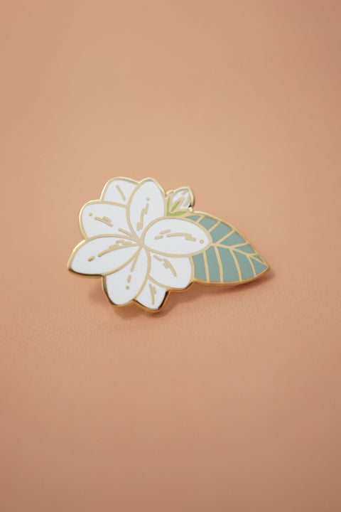 Sampaguita Jasmine Flower (Mint) Enamel Pin