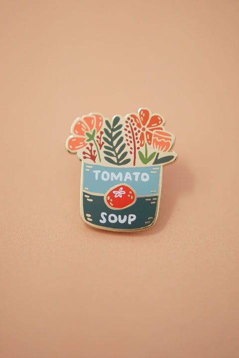 Tomato Soup Bouquet Enamel Pin