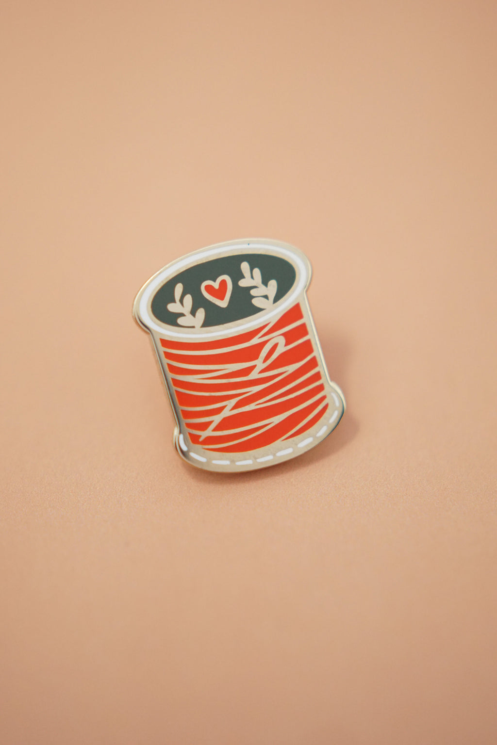 Spool of Thread (Red) Enamel Pin