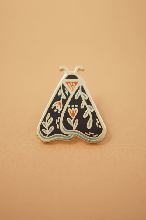 Moth (Black) Enamel Pin