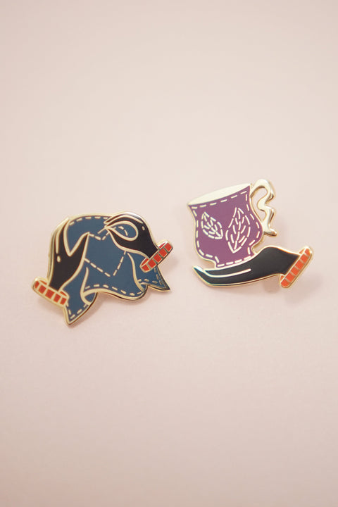Hands Enamel Pin Set (Collaboration with Tea Thoughts)