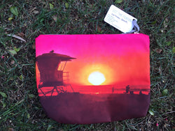 Los Angeles Beach Print Pouch by Just Take Fountain